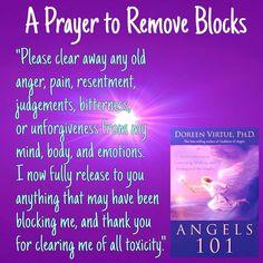 A prayer to remove blocks