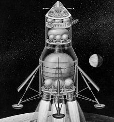 Apollo Direct Ascent - A ludicrous concept for a direct ascent lunar lander. Apollo Spacecraft, Lunar Lander, Apollo Program, Universe Today, Moon Missions, Spaceship Design, Space Race, Applied Science, Space Images