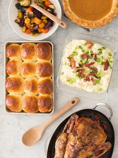 Thanksgiving Freeze-and-Bake Recipes to Make Ahead of Time - OXO Good Tips Thanksgiving Recipes, Fall Recipes, Holiday Recipes, Thanksgiving Turkey, Stuffing Recipes, Frozen Meals, Stick Of Butter, Baking Recipes, Cinnamon Bread