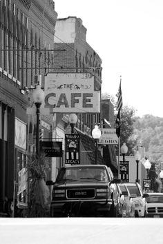 The Café- Downtown Wabasha, Minnesota  Still Life Photography - Donald Messina