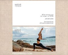 yoga business cards - thick, color both sides - FREE UPS ground shipping