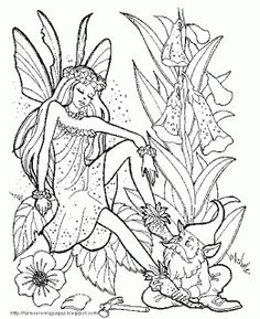 fairy coloring pages colouring adult detailed advanced printable kleuren voor volwassenen coloriage pour adulte anti