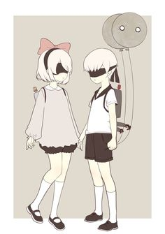 Image about nier automata in ɴɪᴇʀ: ᴀᴜᴛᴏᴍᴀᴛᴀ by ad astra Nier Automata 2, Nier Characters, Otaku, Manga Games, Character Concept, Cute Wallpapers, Anime Couples, Cute Art, Anime Art