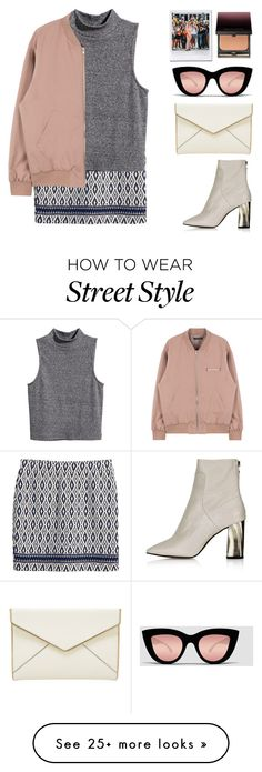 """""""Street Style N°14"""" by yellowgrapes on Polyvore featuring H&M, Topshop, Rebecca Minkoff, Quay, Kevyn Aucoin, women's clothing, women's fashion, women, female and woman"""