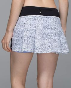 Pace Rival Skirt II dottie dash white black/black
