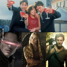 Remember that time when Cyclops, Cersei Lannister and Daryl Dixon went to college together?