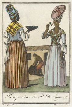 18th Century Clothing, 18th Century Fashion, Haitian Revolution, French Revolution, French Creole, Saint Sauveur, Black Royalty, West Indies, Working Woman