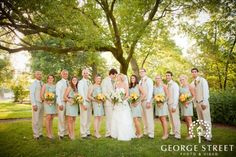 LOVE their color scheme! -- George Street Photography. Vendor at Bridal Extravaganza in Atlanta, Ga at Americas Mart on August 19th!