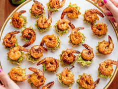 These tostadas, guacamoles, salsas, and more might make dinner obsolete—try our best Mexican-inspired appetizer recipes now! Summer Party Appetizers, Shrimp Appetizers, Shrimp Recipes, Holiday Appetizers, Party Recipes, Yummy Appetizers, Salmon Recipes, Outdoor Party Appetizers, Spanish Appetizers