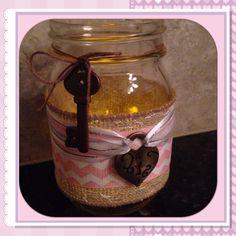 Shabby Chic mason jar decor