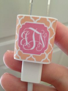 DIY Monogrammed IPhone and IPad Charger Wraps and Home Button Covers