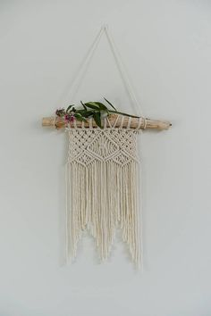 Macrame Wall Hanging. Small Geometric Bohemian pattern. Designed & hand crafted by My Little Habitat Australia