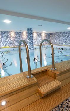 Aquabiking is exactly what it sounds like: aquatic cycling. The fitness center's website claims that each 45-minute session burns up to 800 calories