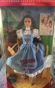 Barbie as Dorothy in The Wizard of Oz Hollywood Legends Collection - NRFB - READ by LovelyTeaCupsandMore on Etsy Barbie Dolls For Sale, Barbie And Ken, Period Costumes, Barbie Collection, Barbie World, Wizard Of Oz, Old Toys, Vintage Toys, Fashion Dolls