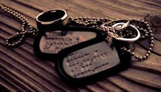 Army spouse Melissa Hall shares a reader essay about the unique challenges, friendships and rewards that only a military spouse would know. Military Marriage, Military Love, Human Condition, Dog Tag Necklace, Amanda, Husband, War, Personalized Items, Strong