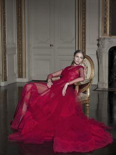 girlannachronism:  Sasha Luss in Valentino Haute Couture Gian Paolo Barbieri for Vogue Italia march 2013
