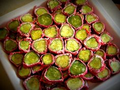 Dill Pickle Wraps- hormel dried beef and bessinger dill pickles preferred