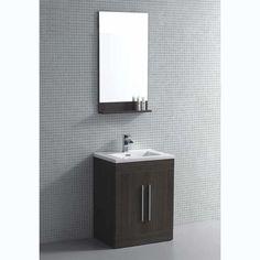 Montreal Inch Bathroom Vanity Cabinet Set Joplin Oak Thermo - Bathroom vanities montreal