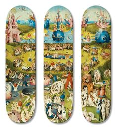 The French skate and surf gallery teamed up with surf company UWL to produce the '504' series that includes the work of Jan Davidsz. de heem (1606-1684), Hieronymus Bosch (1450-1516), Jan van Huysum (1682-1749), and more.