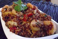 spicy red quinoa   & shimp