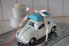 Wedding Ivory Volkswagon Bug Toy Car Ring by beautifuldetailswed, $52.00