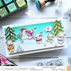 mama elephant | design blog: STAMP HIGHLIGHT: Snow Much Fun