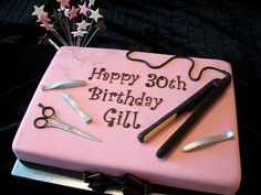 Hairdressing Cake by Cakes-by-Louise, via Flickr