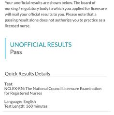 If at first you don't succeed try try try TRY again.  You are now looking at an official LICENSED RN!!! It took over a year and a half and 4 attempts- and believe me there were so many times that I felt defeated insecure stupid and inadequate. Gods timing really is everything my friends! No one can make you feel inferior without your consent- not even a test. Keep trying towards the goal even if it means taking a slow delay in another direction. Sometimes you may not always get things in the…