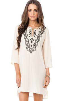 ShopSosie Style : Genussa Dress in Ivory