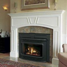 Slash your heating bills with an energy-saving fireplace insert.    Photo: Courtesy Lennox Hearth Products   thisoldhouse.com