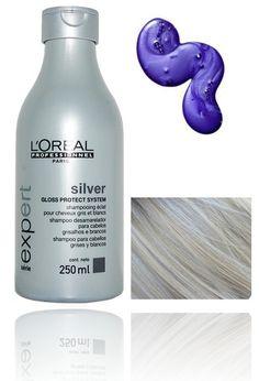 LOreal Silver Clarifying Shine Shampoo (purple) Reduces Yellow Tones Blonde Hair #LOREAL
