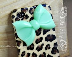 Trendy iPhone Cases: Cute Leopard Bow Cute iPhone 4 Case for Girls - Inspiring & lovely iPhone Cases with Cute iPhone Cases,Urban iPhone Cases,Leopard iPhone Cases, Love it!