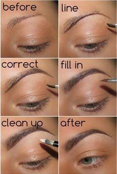 Make Up; Make Up Looks; Make Up Augen; Make Up Prom;Make Up Face; Eyebrow Makeup Tips, Beauty Makeup, Eye Makeup, Makeup Eyebrows, Makeup Application, Eyebrow Tinting, Eyebrow Brush, Good Eyebrow Pencil, Hair Makeup