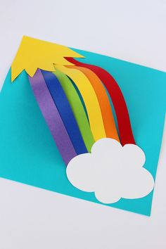How to make a 3-D rainbow for St. Patrick's Day. Kids love rainbow crafts and we have 3 easy crafts that anyone can make.