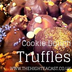 Looking for the perfect chocolate recipe? People always ask me for more batches of cookie dough truffles, so here is the easy recipe!