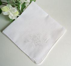 Handkerchief Hanky Hankie Vintage Hankys Hankies Antique Handkerchief Hankerchief White with Embroidered Floral Design by treasurecoveally on Etsy