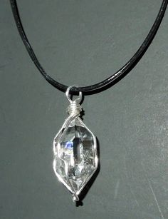 Herkimer diamond wire wrapped pendant herkimer diamond jewelry photos of this herkimer diamond pendant wire wrapped in sterling silver aloadofball Gallery