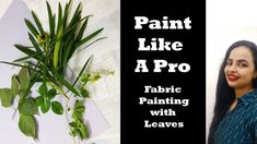 Fabric Painting with Leaves Like A Pro, Find Us On Facebook, Painted Leaves, Embroidery Fabric, Fabric Painting, Diy Fashion, Easy Diy, Diy Projects, English