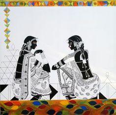 Ethereal Rhythm 113 Artwork Madhubani Art, Madhubani Painting, Rajasthani Painting, Rajasthani Art, Buddha Drawing, Indian Art Paintings, Canvas Paintings, Kalamkari Painting, Fabric Painting