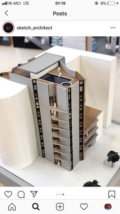 Maquette Architecture, Architecture Blueprints, Architecture Model Making, Architecture Concept Diagram, Architecture Concept Drawings, Architecture Design, Facade Design, Exterior Design, Building Design