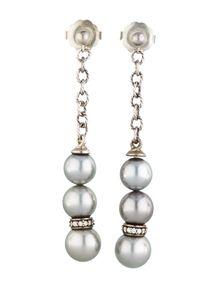 David Yurman Pearl Earrings