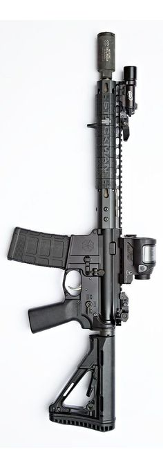 The layout for this carbine is Noveske, SureFire, Umbrella Corporation, Magpul and Trijicon. By Stickman