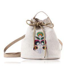 b15f552e38f17 Dizajn vyrobený s láskou. TorebkiZakupyModaAkcesoria Dla Kobiet. lniana Folk  bag Summer designed by Farbotka