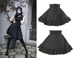 """Lovely gothic """"corset"""" detail skirt."""