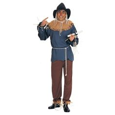 The Wizard of Oz - Scarecrow Men's Adult Costume X-Large, Size: Xl, Brown