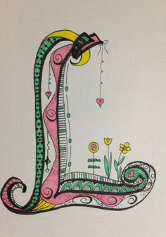 My Zen Tangle / Doodle Art  working on the alphabet.