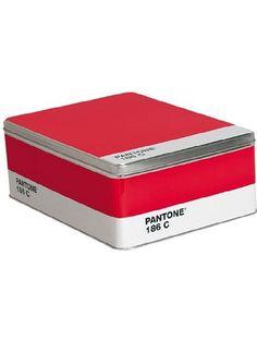 Pantone  2011-037 Storage Box, Ruby Red 186C ❤ Pantone LLC