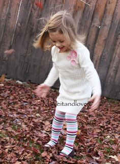 Totally going to use this tutorial for some winter dresses for Avery. I have some many sweaters that have mysteriously shrunk in the wash...(could have been that they were dry clean only, oops). Can't wait to try this out! Looks so easy!