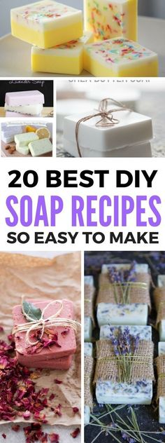 Homemade Soap Recipes that are even great for beginners and advanced gurus. Contains great tutorials which include making soap with essential oils and more. Also a great diy idea to make and sell! #soapmakingforbeginners