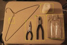 How to mason jar wire handle